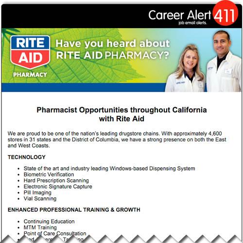 rite aid career alert 411
